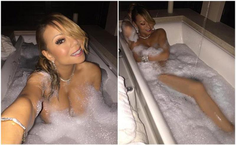 Mucha espuma: las fotos de Mariah Carey en la bañera