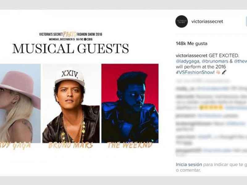 The Weeknd estará en el Victoria's Secret Fashion Show