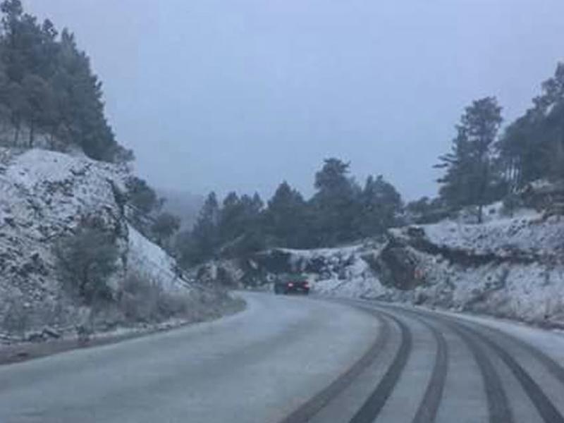 Ya son 8 los municipios nevados en el estado