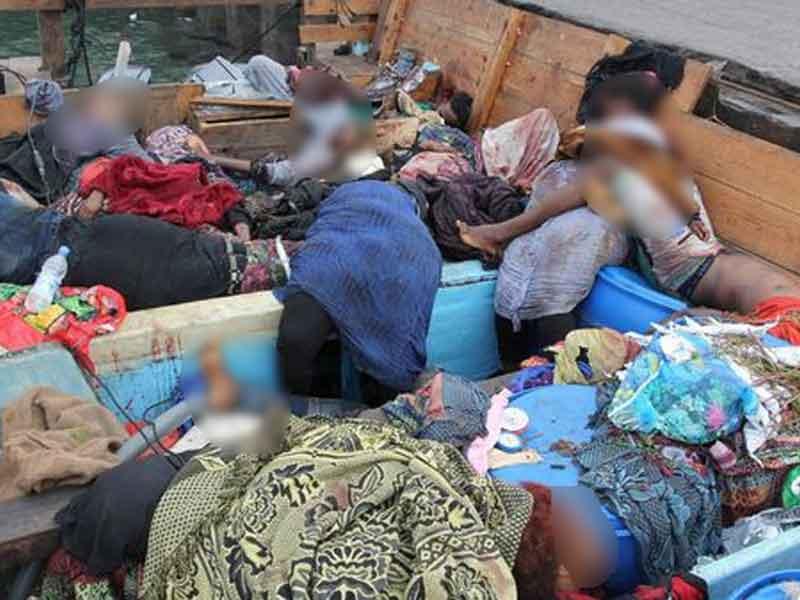 Más de 30 refugiados somalíes fueron masacrados por un helicóptero saudí — Yemen
