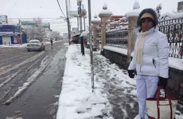 Nieve en Juárez