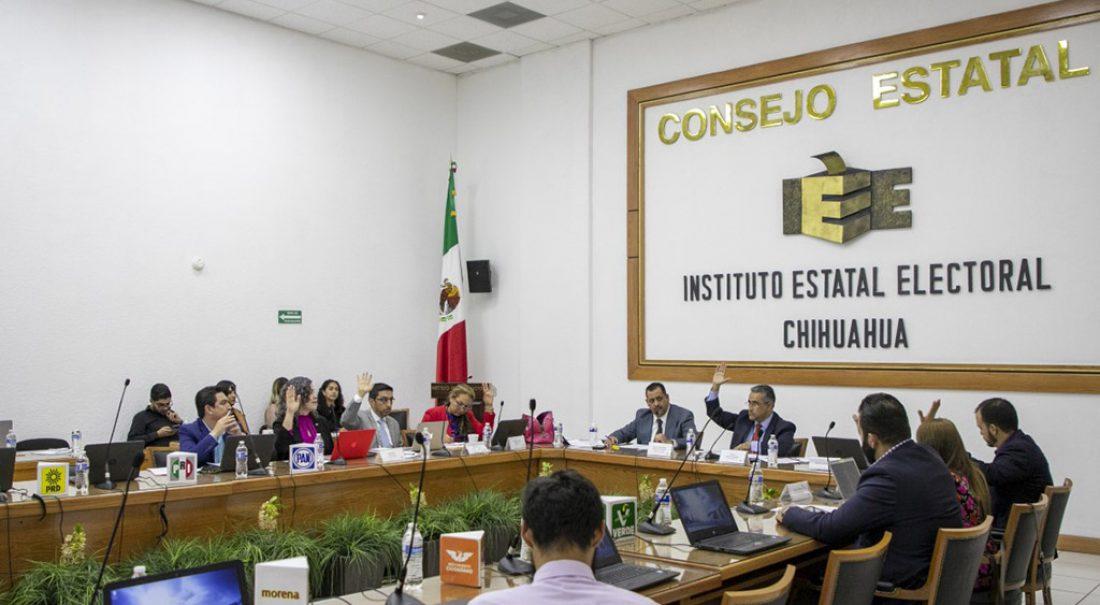 Consejo del IEE en sesión