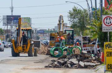 congestionamiento vial; obras gomez morin; gobernadora