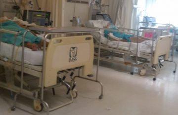 enfermos de Covid en el hospital 66 del IMSS