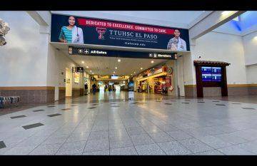 Aeropuerto de El Paso durante crisis de Covid