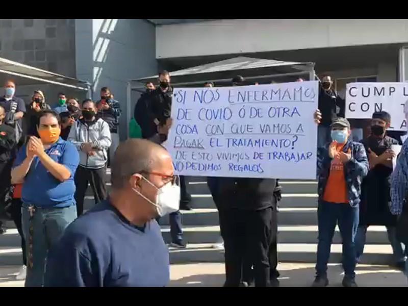 manifestación por cierre Covid