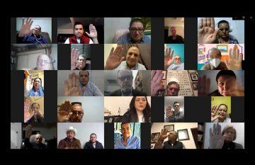 Sesión virtual del PRI estatal
