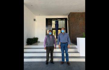 Martín Chaparro y Omar Bazán, dirigentes estatales de Morena y el PRI