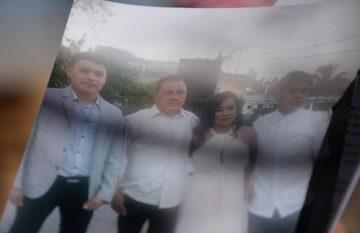 José Ortiz y su familia, antes de los 16 días de calvario
