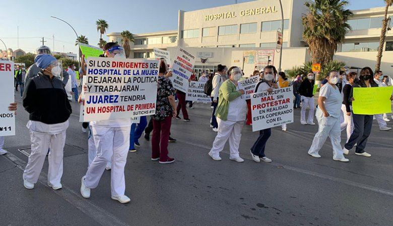 Protesta de Héroes de la Salud
