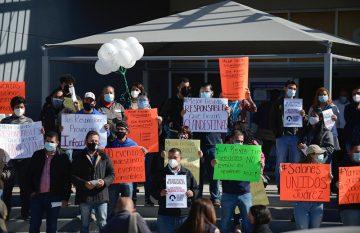 Protesta de empleados y dueños de salones de eventos