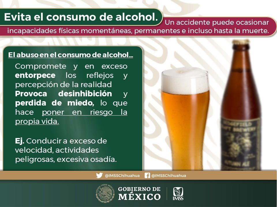 Uno de los anuncios del IMSS con respecto a evitar el abuso del alcohol en la temporada decembrina