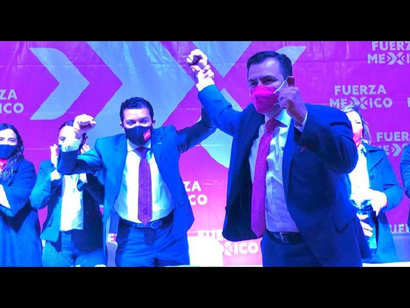 Registro del aspirante Alejandro Díaz como precandidato a la gubernatura por Fuerza por México