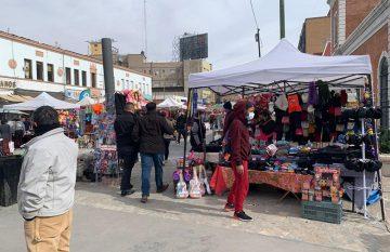 Comerciantes ambulantes en el Centro