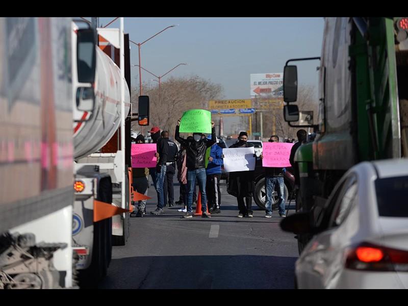 Protesta en la Panamericana