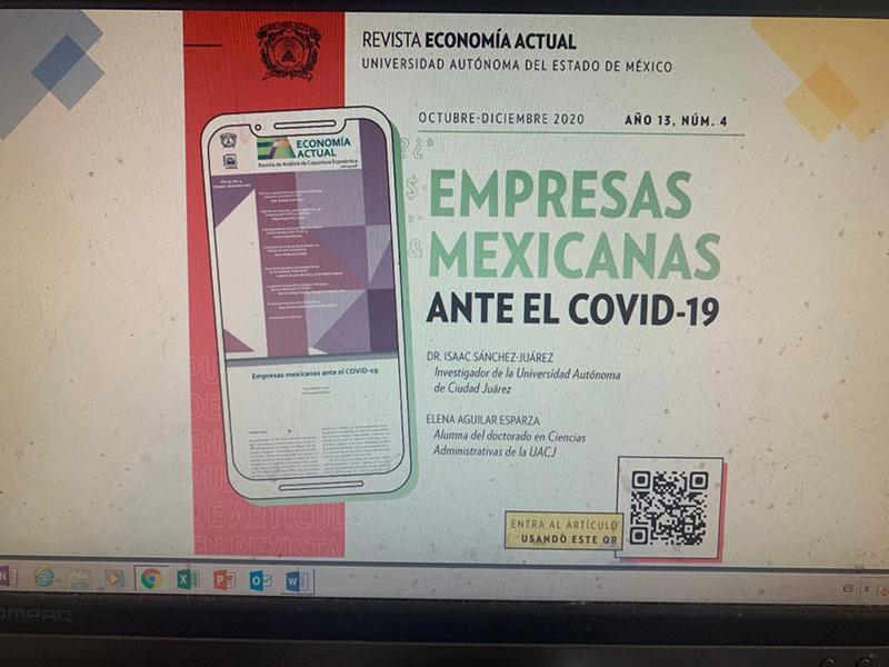 Portada del informe de Empresas mexicanas ante el Covid-19