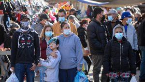 contagios; Compradores en el Centro no respetan las medidas de sana distancia, supercierre