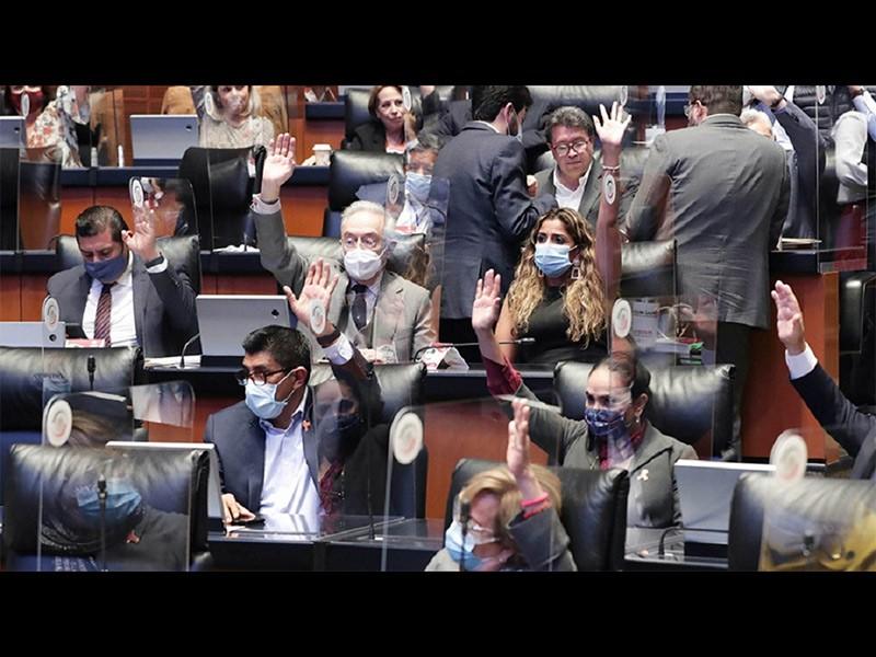 Votación en el Senado para eliminar el fuero presidencial