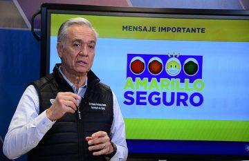 Secretario de Salud anuncia las medidas del amarillo seguro