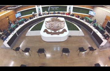 Sesión de Cabildo donde Armando Cabada pidió licencia