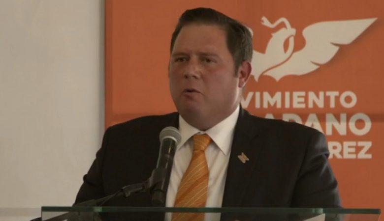 Rodolfo Martínez, en su presentación como precandidato por la alcaldía de Juárez