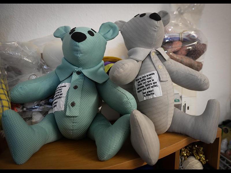 Los osos de la artesana Eréndira Guerrero