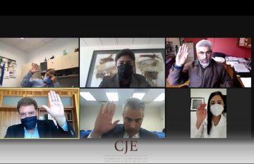 Sesión virtual en la que se define mantener los protocolos santinarios en el Poder Judicial de Chihuahua