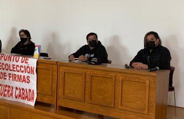 Grupos promoventes de la revocación de mandato en rueda de prensa