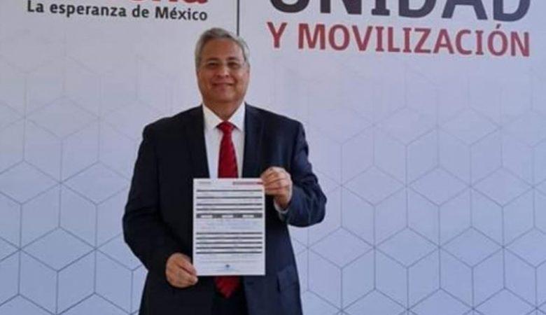 Édgar Villegas, aspirante de Morena y expresidente de la AMEJ en 2018, cuando Cabada ganó al impugnar