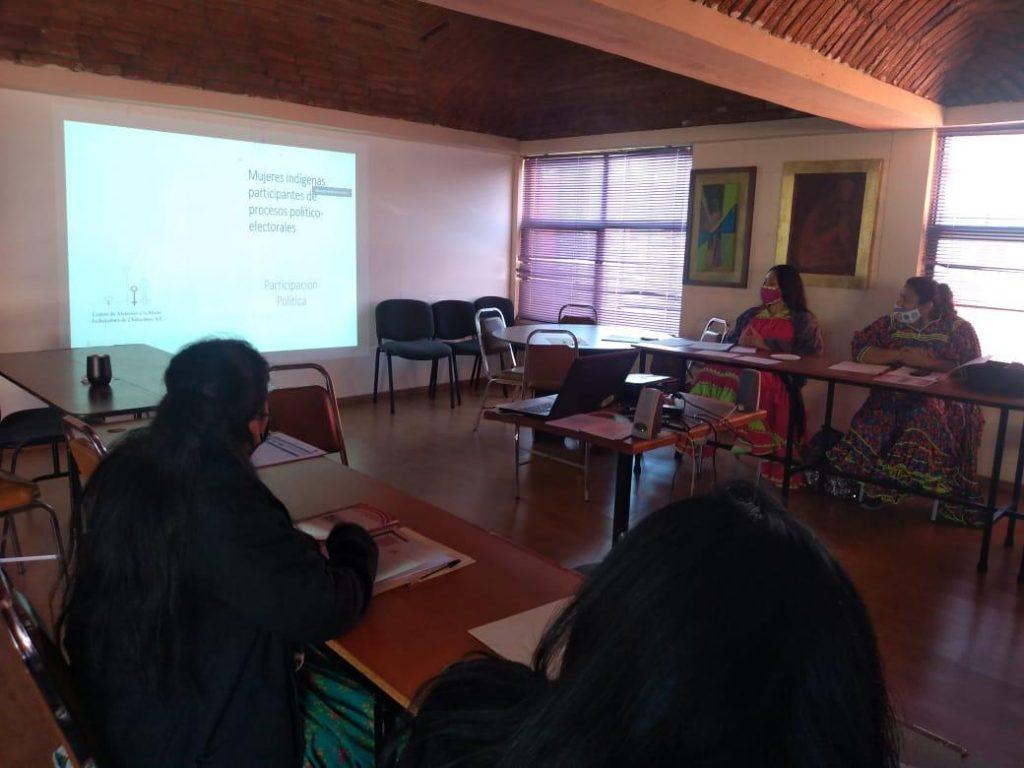 """Aspectos de """"Mujeres indígenas participantes de procesos políticos-electorales"""", del IEE y el CAMT"""