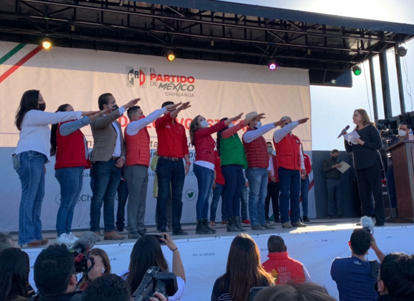 Toma de protesta de Adriana Fuentes, síndico y diputados locales