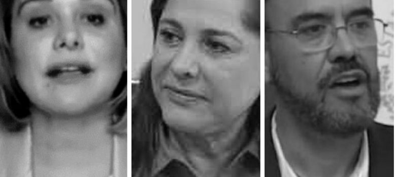 Juan Carlos Loera, Graciela Ortiz y Maru Campos