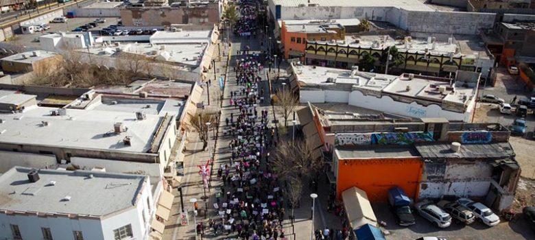 Marcha del 8M en ciudad Juárez