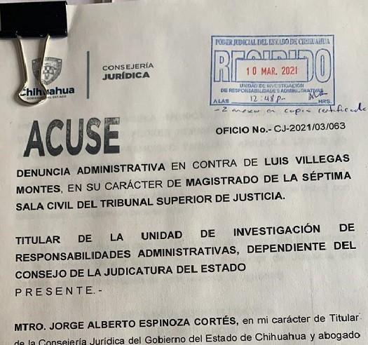 """Denuncia el Estado a """"magistrado incómodo"""" por hablar mal de Corral"""