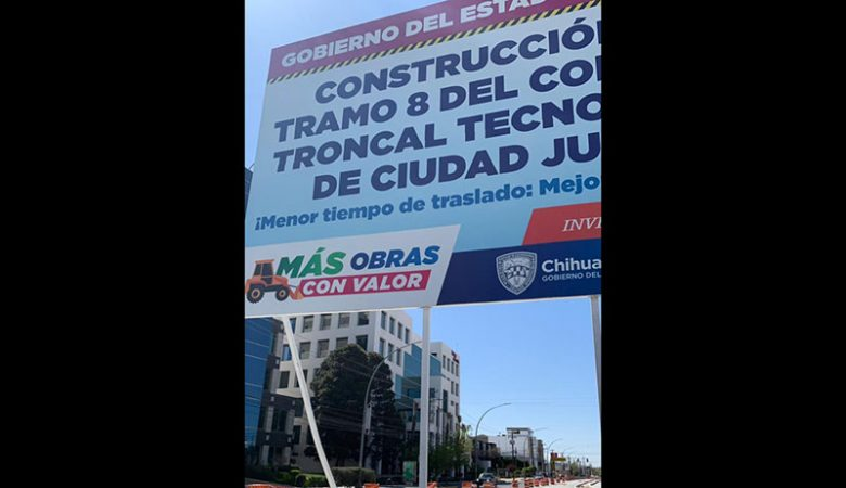 Frente de obra del BRT