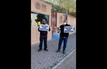 Protesta en el aniversario del crimen de Miroslava Breach