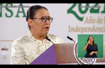 La secretaria de Seguridad federal habló de las amenazas del crimen organizado a candidatos para las elecciones de junio