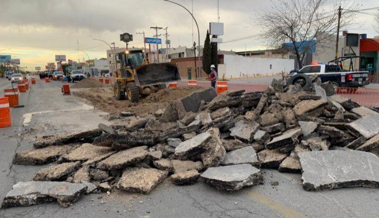 Obras del BRT en la Gómez Morín