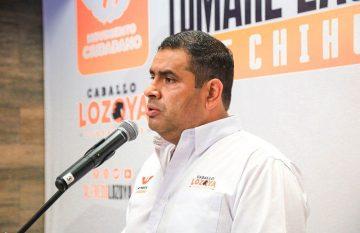 Caballo Lozoya, candidato de Movimiento Ciudadano (MC) por la gubernatura de Chihuahua