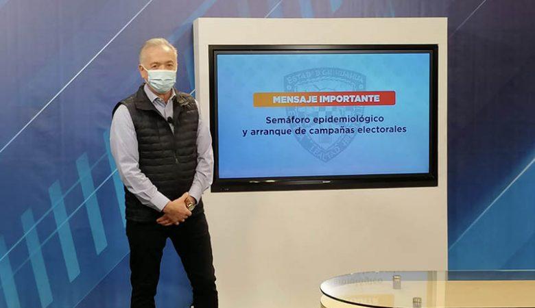 Eduardo Fernández Herrera: secretario de salud, dio una advertencia a los candidatos por no respetar las medidas contra el Covid-19; asegura que las elecciones están en riesgo
