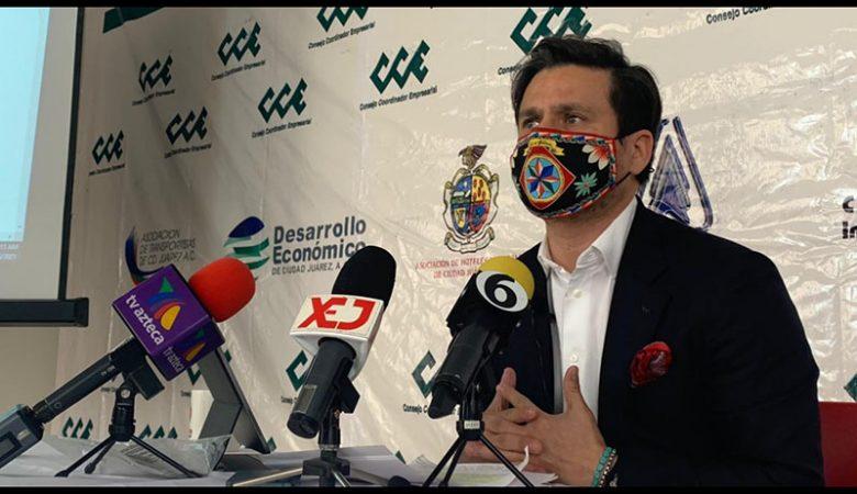 El presidente del CCE en Juárez cuestionó los criterios para dejar a Ciudad Juárez al final de la vacunación Covid