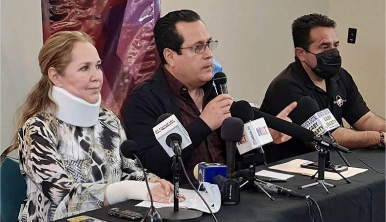 Adriana Fuentes en rueda de prensa en la que habló sobre los hechos del BRT