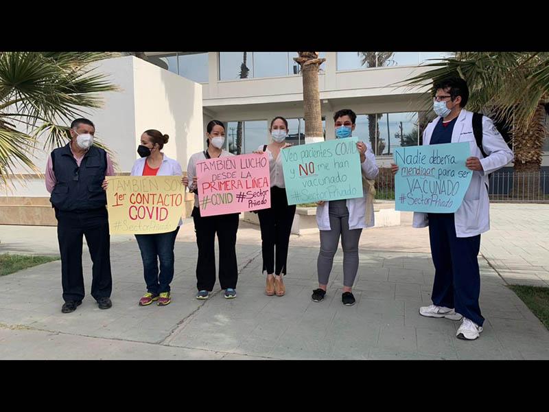 Médicos privados piden vacunas Covid