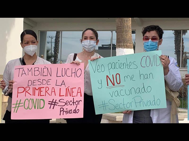 Médicos privados exigen vacunas Covid