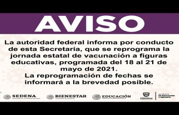 Cancelan vacunación a maestros; reprogramarán fecha
