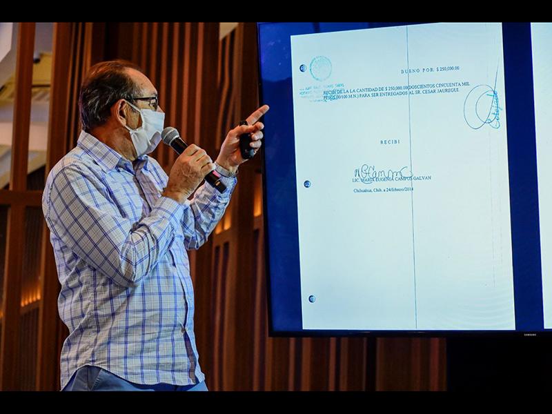 Alberto Baudino señaló las anomalías en la certificación de los recibos de la nómina secreta