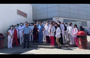 Protesta en el Hospital de la Mujer