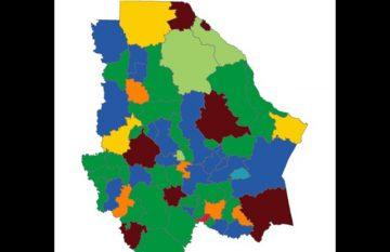 Alcaldías según la elección de 2021; el PRI tiene mayoría