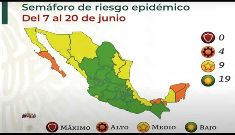 Semáforo de riesgo nacional por Covid-19