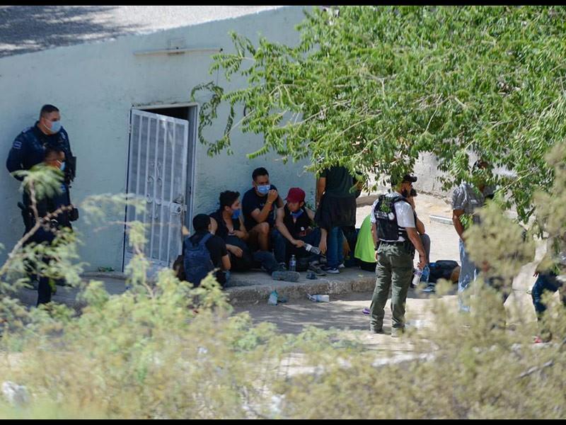 Los migrantes se encontraban en una pequeña casa de la colonia Ampliación Felipe Ángeles